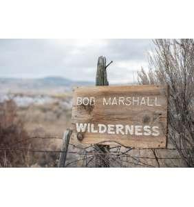 Bob Marshall Wilderness Sign on Montana Barnwood