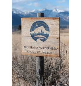 COMMISSIONED Art, Montana Art, Barnwood Sign, Personalized Gift, Business Logo, Salvaged Wood Sign, Rustic Art, Weathered Wood Sign