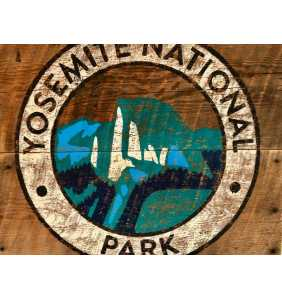 Yosemite National Park, Half Dome, Sierra Nevada, National Parks, Barnwood Sign, Salvaged Wood Art, Rustic Art, Salvage Signs